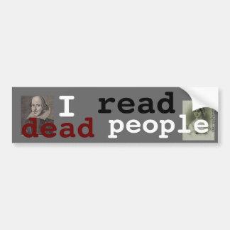 Ik las dode mensen bumpersticker