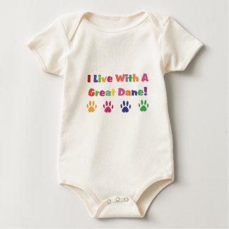 Ik leef met Great dane Baby Shirt
