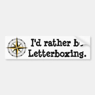 Ik letterboxing eerder bumpersticker