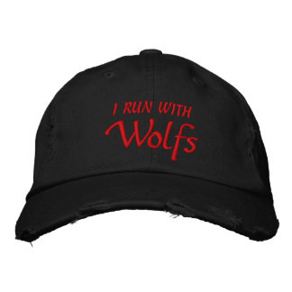 Ik loop met Ventilator Wolfs Geborduurde Pet