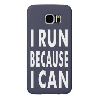 Ik loop omdat ik Blauwe, Witte melkweg 6 van Samsung Galaxy S6 Hoesje