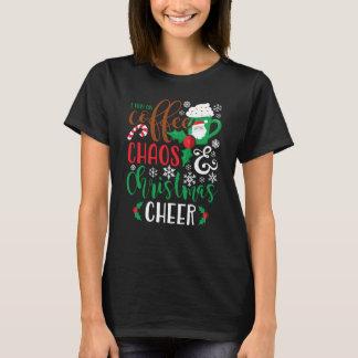 Ik loop op de Chaos van de Koffie en Kerstmis T Shirt