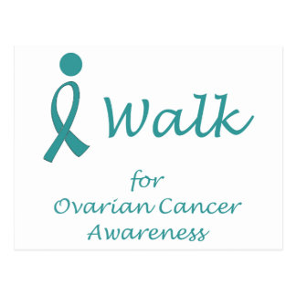 Ik loop voor de Ovariale Voorlichting van Kanker Briefkaart