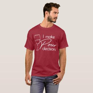 Ik maak de humor van de de wijnminnaar van de t shirt