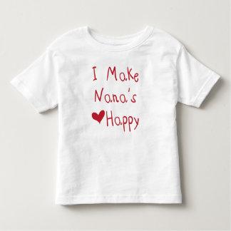 Ik maak tot het Hart van Nana Gelukkige (Rode) Kinder Shirts