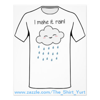 Ik maak tot het Regen Leuke Onweerswolk Flyer 11,4 X 14,2 Cm