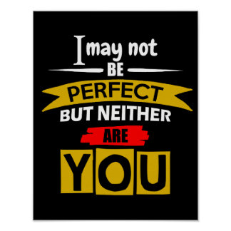 Ik mag niet Perfect zijn Poster