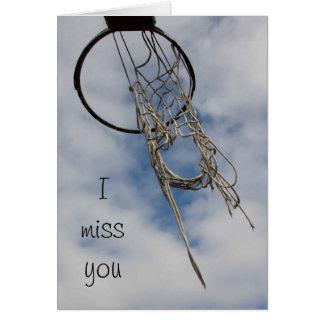 Ik mis u basketbalkaart kaart