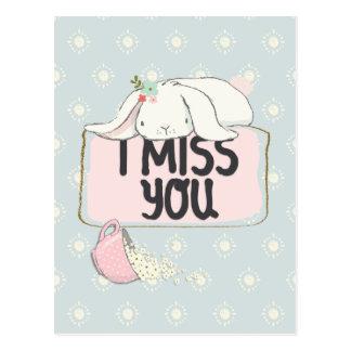 Ik mis u briefkaart