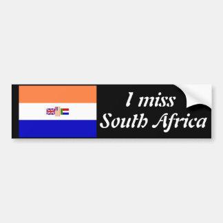 Ik mis Zuid-Afrika Bumpersticker