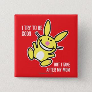 Ik neem na Mijn Mamma Vierkante Button 5,1 Cm