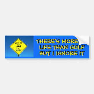 Ik negeer het Leven, speel Golf - de Kar van het Bumpersticker