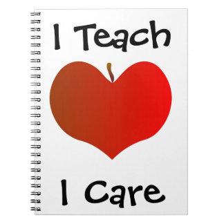 Ik onderwijs het Notitieboekje van de Zorg van I Notitieboek