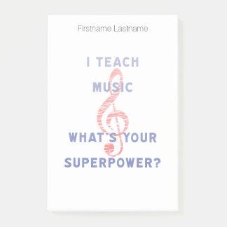 Ik onderwijs Muziek wat Uw Grootmacht is Post-it® Notes