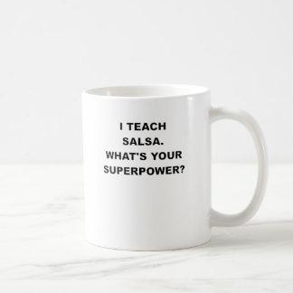 Ik ONDERWIJS SALSA WAT UW SUPERPOWER.png IS Koffiemok