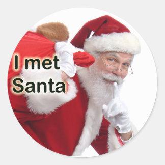 Ik ontmoette Kerstman Ronde Sticker