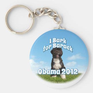 Ik ontschors voor Barack, BO de Eerste Hond Obama Basic Ronde Button Sleutelhanger