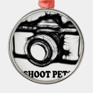 Ik ontspruit huisdieren zilverkleurig rond ornament