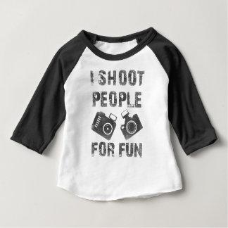 Ik ontspruit mensen voor pret baby t shirts