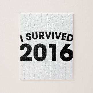 Ik overleefde 2016 legpuzzel
