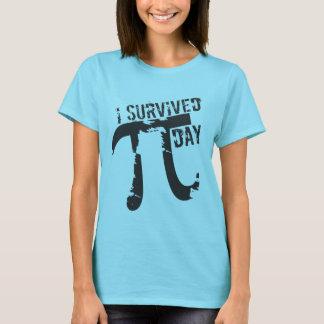 Ik overleefde de Dag van Pi - de Grappige Dag van T Shirt