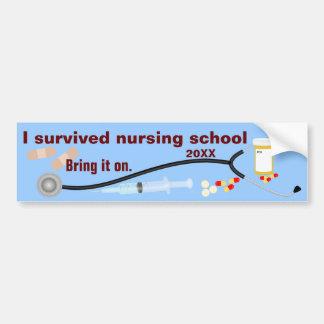 Ik overleefde de School van de Verzorging Bumpersticker
