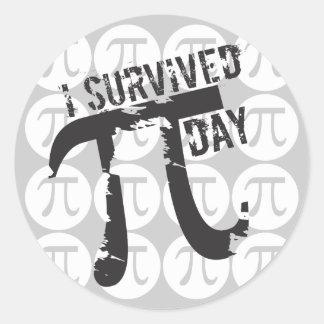 Ik overleefde de Stickers van de Dag van Pi -
