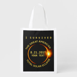 Ik overleefde de Totale ZonneVerduistering Boodschappentas