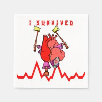 Ik overleefde een hartaanval papieren servetten