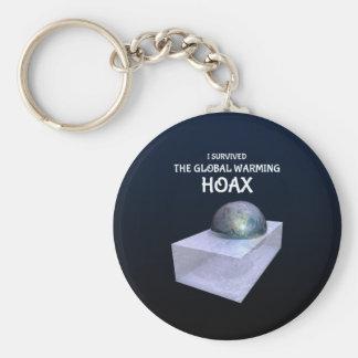 Ik overleefde Globale het Verwarmen Hoax Sleutelhanger