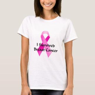 Ik overleefde het lint van borstkanker t shirt