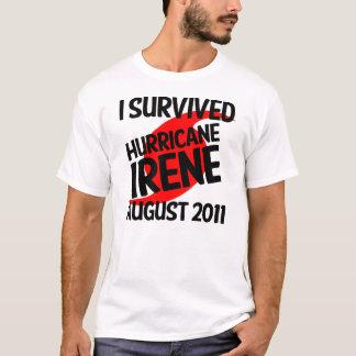 IK OVERLEEFDE ORKAAN IRENE AUGUSTUS 2011 T SHIRT
