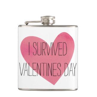 Ik overleefde Valentijnsdagfles Heupfles
