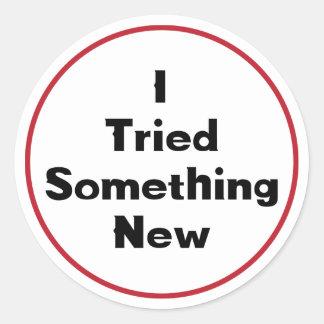 Ik probeerde iets Nieuwe Sticker