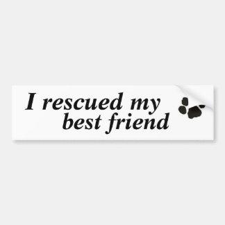 Ik redde mijn beste vriend (goedgekeurde hond) bumpersticker