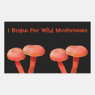 Ik rem voor de Leuke Natuur van de Paddestoel Rechthoekige Sticker