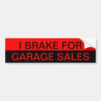 Ik rem voor de Sticker van de Bumper van Garage