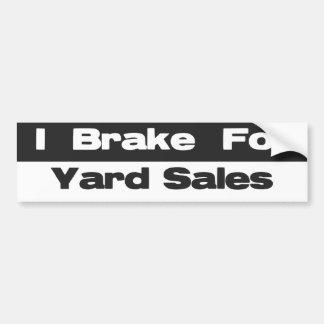 Ik rem voor de Sticker van de Bumper van Garage sa