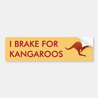 Ik REM VOOR de Sticker van de Bumper van KANGOEROE