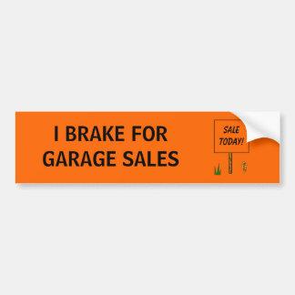 Ik REM VOOR GARAGE SALES - bumpersticker