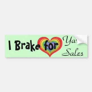 Ik rem voor Garage sales Bumpersticker