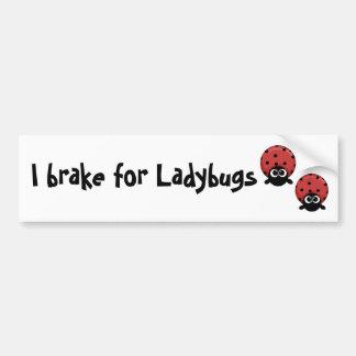 Ik rem voor Lieveheersbeestjes Bumpersticker
