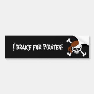 Ik rem voor piraten! bumpersticker