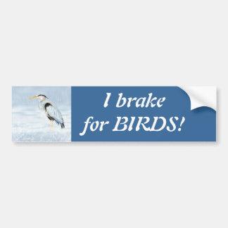 Ik rem voor Vogels - Birding met Grote Blauwe Reig Bumpersticker