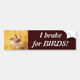 Ik rem voor Vogels - Birding met het Leuke Art. va Bumpersticker