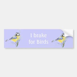 Ik rem voor Vogels, de Gemeenschappelijke Vogel va Bumpersticker