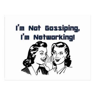 Ik roddel niet, ben ik Voorzien van een netwerk! Briefkaart