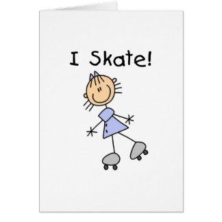 Ik schaats de Schaatser van de Rol van het Meisje Kaart