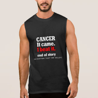 Ik sloeg overwinning Cancer.Customizable. Vrije T Shirt