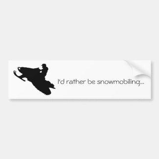 Ik snowmobiling… eerder de sticker van de Bumper